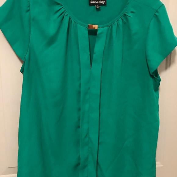 Tops - Green dressy top.